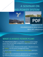 Hybrid Power System Ppt by Dharmendra