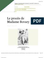 Procès a Madame Bovary