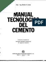 MANUAL TECNOLÓGICO DEL CEMENTO