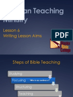 6 Writing Lesson Aims