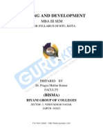 Training Development Notes MBA
