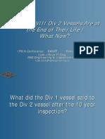 ASME VIII Div 2 Vessels-End of Life