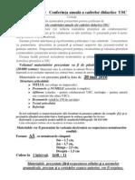 Conditii Publicare Materiale Conf. 2011