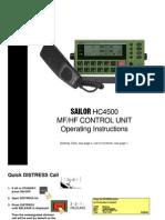 Sailor Hc4500 Mf Hf Control Unit Operating Instructions