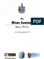 2012 Mises Seminar Programme