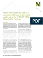 Three-dimensional culture and assessment of drug-induced cell death using the CellASIC™ ONIX Microfluidic Platform