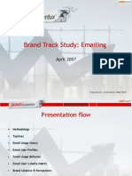 Brand Track Report - Emailing Category  March 2007