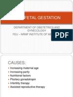 Multifetal Gestation