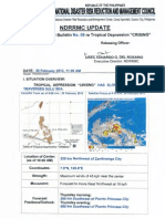 "Ndrrmc Update Re Swb No.08 Tropical Depression ""Crising"""