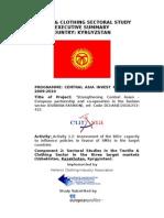 T&C SECTOR Executive Summary - Kyrgyzstan