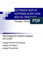 Perhitungan Owning Dan Operating Cost