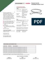 Molex PowerCat 6A Shielded Patch Cords