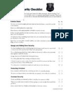 SSPD Home Security Checklist