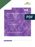 Knowledge Sheets On (A)  By - Sri Sri Ravi Shankar