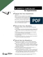 Apartment Safety Checklist