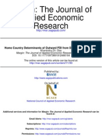 Home Country Determinants of Outward FDI from Developing Countries