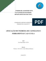 calculo dos deslocamento pelo metodo de castigliano e elementos finitos