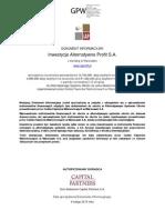 Dokument Informacyjny Inwestycje Alternatywne Profit S A1