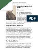 Guide to Original Usui Reiki