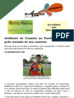 Artilheiro do Cruzeiro no Paraibano, Dimas pede rescisão de seu contrato