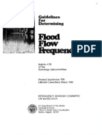 Guidelines for Determining Flood Flow Frequency. US Water Resources Council (1981)
