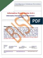 Informatica Version Control