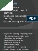 Planning Nursing Management
