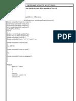 Java Lab 2-1 Manual It & Cse2009-10