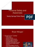 Personal Safety and Awareness