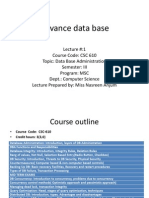 Lecture 1 Advance Data Base