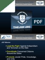 JIDF Presentation to World Union of Jewish Students (WUJS)