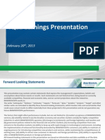 4Q12 Presentation Earnings Release