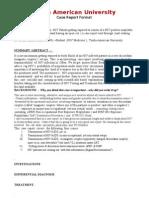 A Case Report Format