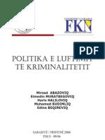 Mirsad Abazoviq - Politika e Luftimit Te Kriminalitetit
