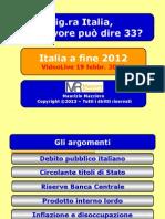 Italia Economia a Fine 2012 - Slide VideoLive 190213