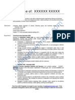 Sample CDR Template - Electrical Engineer