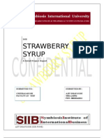 Strawberry Syrup (A DETAIL PROJECT REPORT)