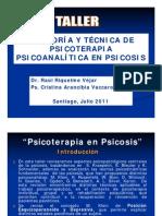 05 Taller de Psicoterapia Dinamica en Psicosis (Dr. Riquelme