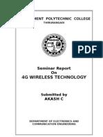 Seminar Report_4g Wireless Technology
