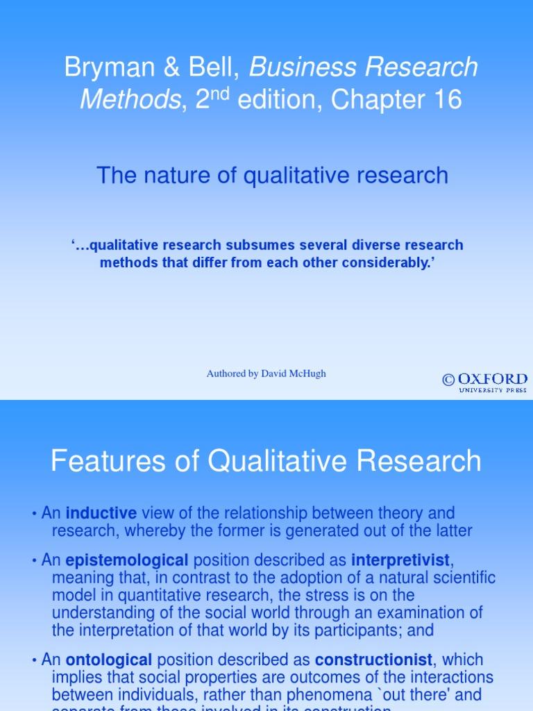 contrast quantitative and qualitative research