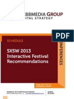 SXSW 2013 - Interactive Sessions You Can't Miss!