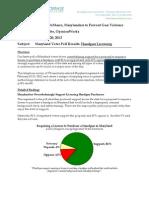 MD Poll - Gun Licensing