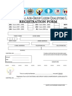 2013 National Age Group LUZON LEG Registration Form