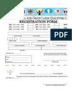 2013 National Age Group LUZON LEG Registration Form