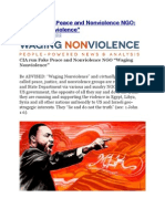 "CIA Run Peace and Nonviolence NGO - ""Waging Nonviolence"""