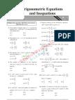 Trigonometry Equations