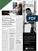 LaAutònoma, dispuestaahablar con los estudiantes expedientados