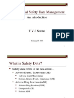 Clinical Trial Safety Data Management (Presentation By TVS Sarma)
