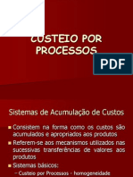 Custeio Por Processos