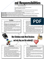 RE Year 11 Revision Handout
